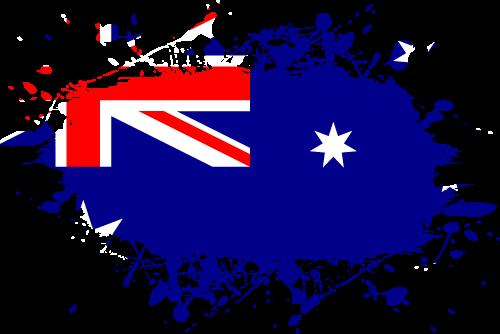 Vector flag of Australia - Ink Splat