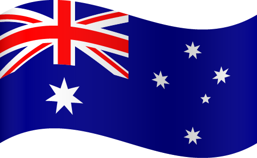 Vector flag of Australia - Waving