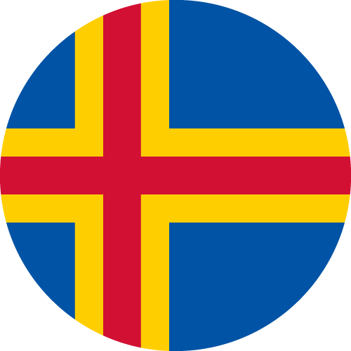 Vector flag of the Åland Islands - Circle