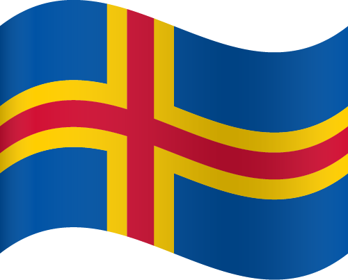Vector flag of the Åland Islands - Waving