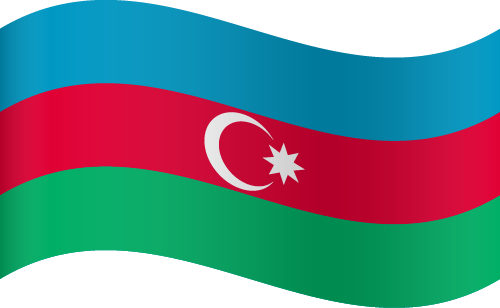 Vector flag of Azerbaijan - Waving