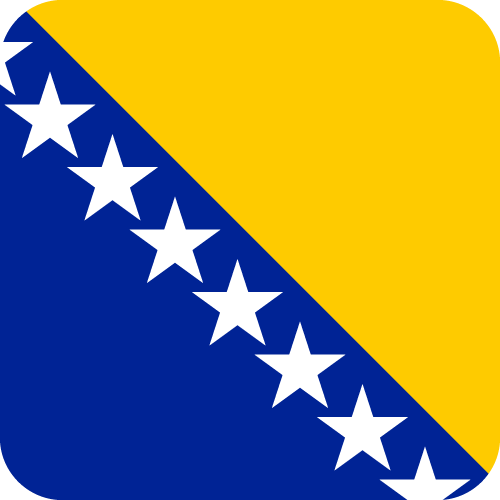 Vector flag of Bosnia and Herzegovina - Button