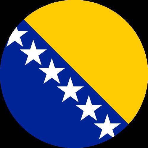 Vector flag of Bosnia and Herzegovina - Circle