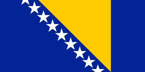 Vector flag of Bosnia and Herzegovina