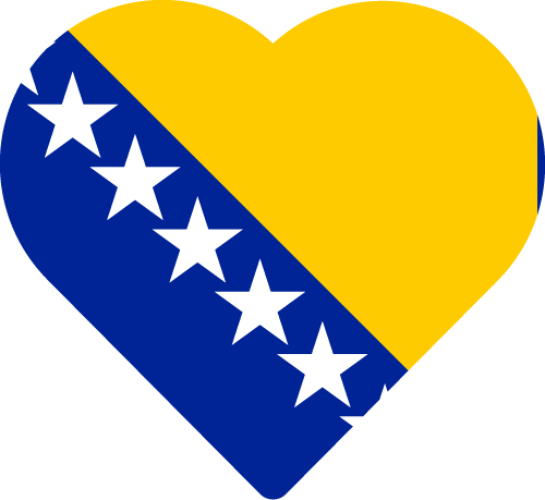 Vector flag of Bosnia and Herzegovina - Heart
