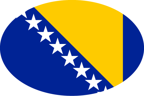 Vector flag of Bosnia and Herzogovina - Oval