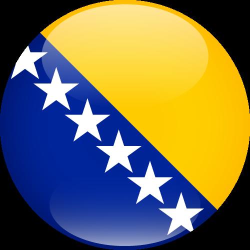 Vector flag of Bosnia and Herzegovina - Sphere