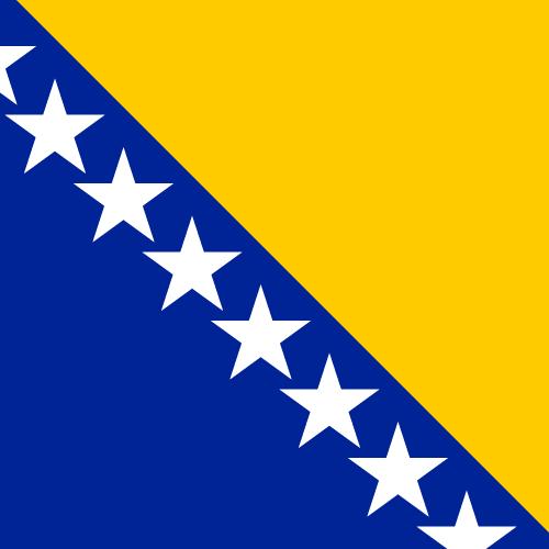 Vector flag of Bosnia and Herzegovina - Square
