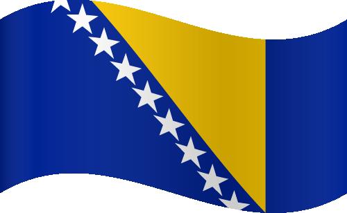 Vector flag of Bosnia and Herzegovina - Waving
