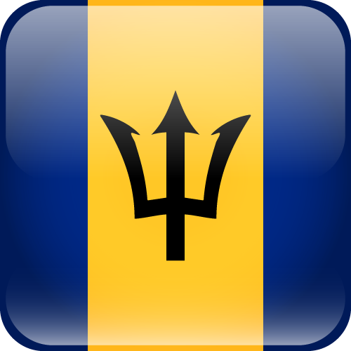 Vector flag of Barbados - Cube