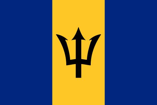 Vector flag of Barbados
