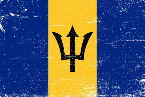 Vector flag of Barbados - Grunge