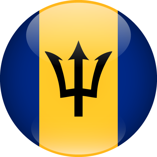 Vector flag of Barbados - Sphere