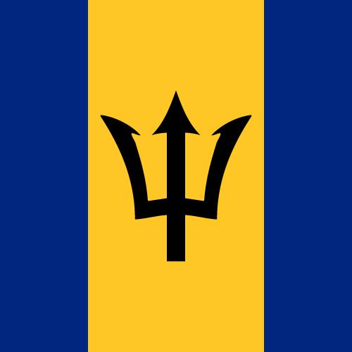 Vector flag of Barbados - Square