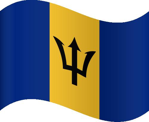 Vector flag of Barbados - Waving