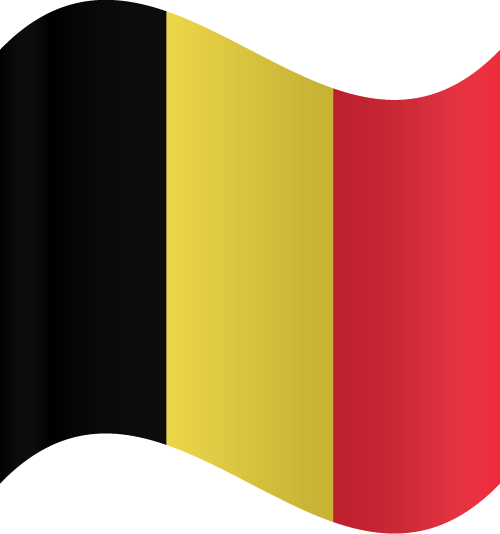 Vector flag of Belgium - Waving