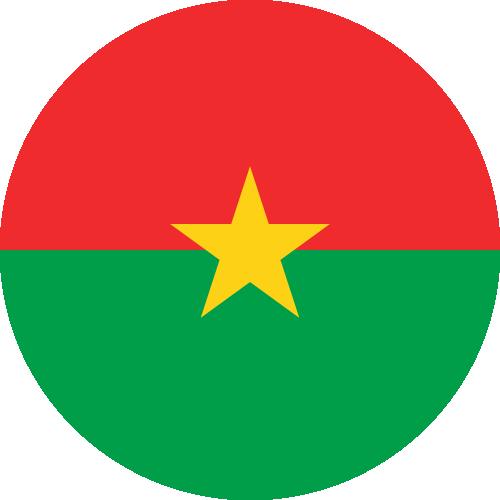 Vector flag of Burkina Faso - Circle