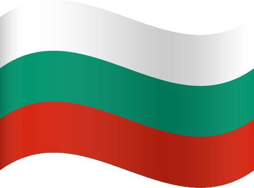 Vector flag of Bulgaria - Waving