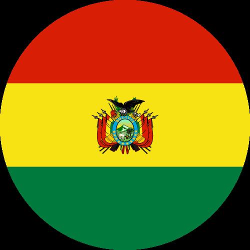 Vector flag of Bolivia - Circle