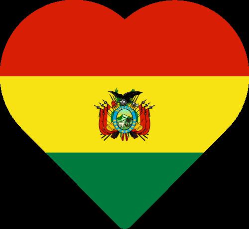 Vector flag of Bolivia - Heart