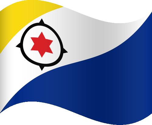 Vector flag of Bonaire - Waving