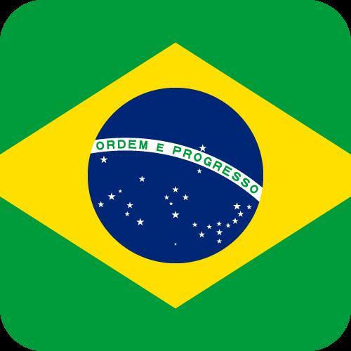 Vector flag of Brazil - Button
