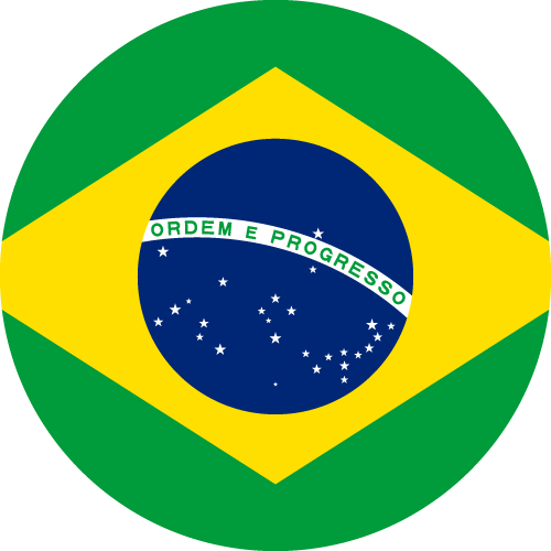 Vector flag of Brazil - Circle