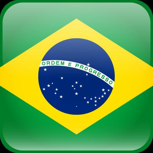 Vector flag of Brazil - Cube