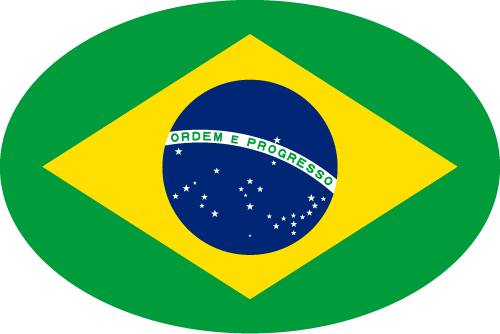 Vector flag of Brazil - Oval