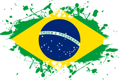 Vector flag of Brazil - Ink Splat
