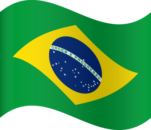 Vector flag of Brazil - Waving