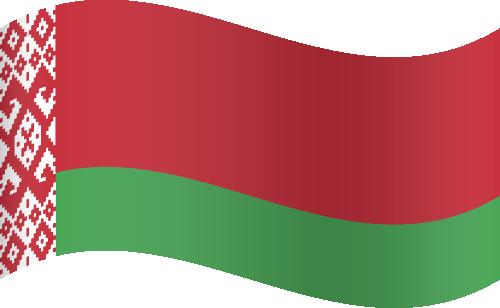 Vector flag of Belarus - Waving