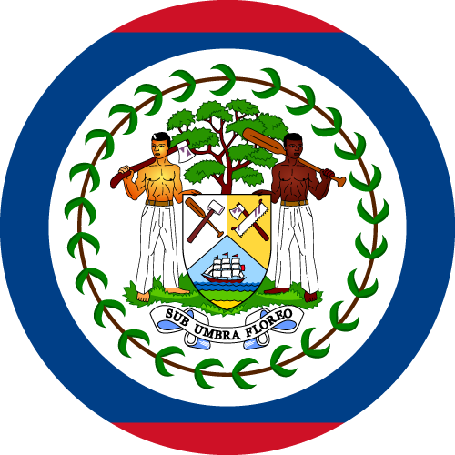 Vector flag of Belize - Circle