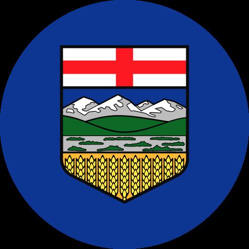 Vector flag of Alberta - Circle