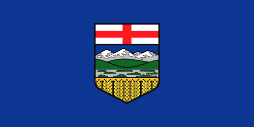 Vector flag of Alberta