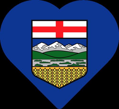 Vector flag of Alberta - Heart