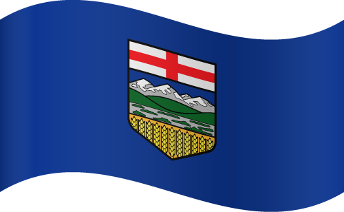 Vector flag of Alberta - Waving