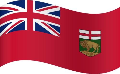Vector flag of Manitoba - Waving