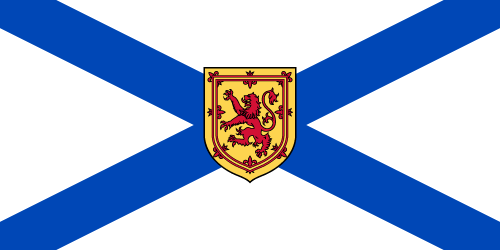 Vector flag of Nova Scotia