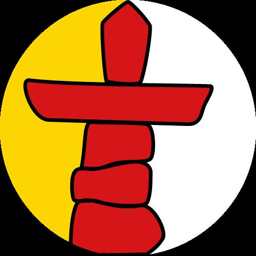 Vector flag of Nunavut - Circle