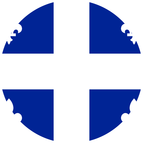 Vector flag of Quebec - Circle