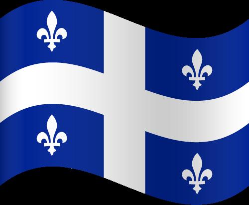 Vector flag of Quebec - Waving