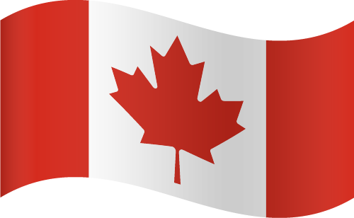 Vector flag of Canada - Waving