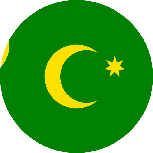 Vector flag of the Cocos Islands - Circle