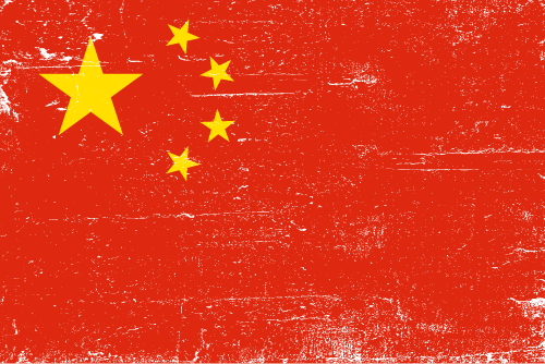 Vector flag of China - Grunge