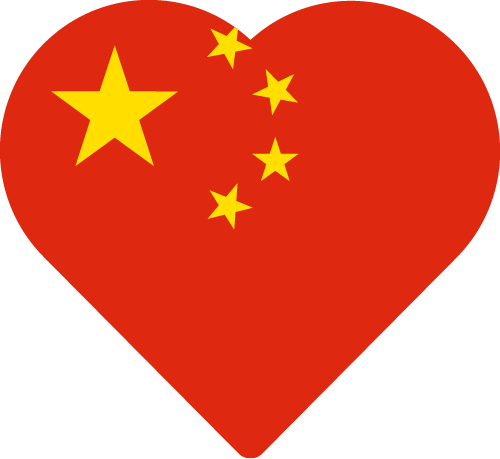 Vector flag of China - Heart