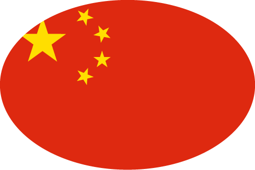 Vector flag of China - Oval