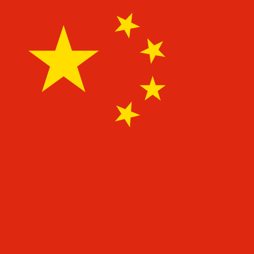 Vector flag of China - Square