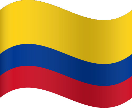 Vector flag of Colombia - Waving