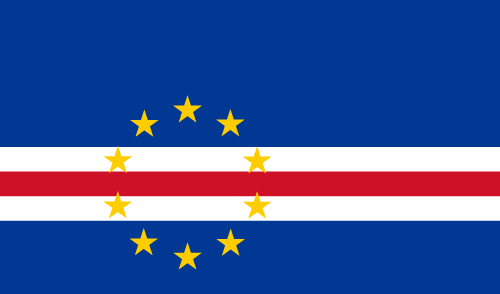 Vector flag of Cape Verde